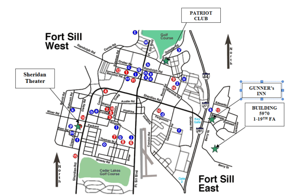 FortSillMap Map Of Fort Sill Building on